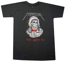 Lectro Click2tshirt Mens Red Indian Skeleton Kanye West Yeezus God Wants You Tour T Shirt Click2tshirt