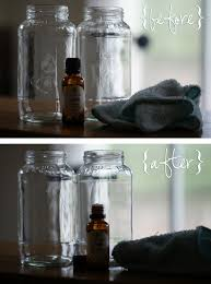 cleaning sticky residue off glass jars