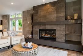 dark tile fireplace surround contemporary