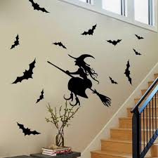 creative haunted house glass witch wall stickers background decoration sticker wall art