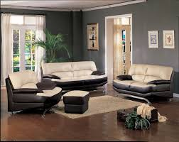 choosing paint color living room ideas with cream and black leather sofa on brown wooden floor awesome white brown wood glass modern