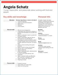 College Resume Examples For High School Seniors | Nppusa.org