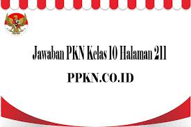 Teka teki silang berbahasa indonesia dapat anda mainkan secara gratis. Jawaban Pkn Kelas 10 Halaman 211 Ppkn Co Id