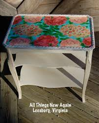 floral decoupage furniture. Tips For Decoupaging Paper Napkins Onto Furniture | Decoupage Table All Things New Again Floral I