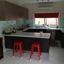 Splashback For Kitchens Glass Splashbacks Melbourne All Domestic Cabinets Pty Ltd Red