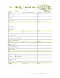 23 Printable Budget Worksheet For College Students Forms And