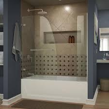dreamline aqua uno 60 in w x 58 in h frameless bathtub door