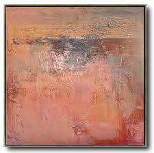 oversized contemporary art modern art oil painting red brown orange