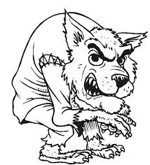 Small Picture Halloween Werewolf Coloring Pages Halloween Werewolf Halloween