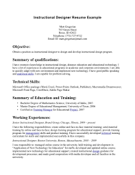 Resume Instructional Design Sales Designer Lewesmr