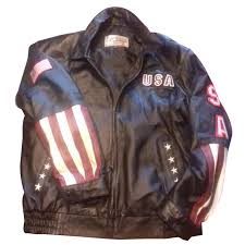 autre marque american leather usa jacket blazers jackets leather black ref 51978