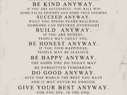Mother Teresa Quotes Love Them Anyway Enchanting Mother Teresa Quote Love Them Anyway Pleasing Mother Teresa Quote