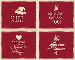 Set Of Christmas Funny Signs Quotes Backgrounds Designs For Kids