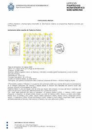 Filatelico San Marino emette francobollo per il centenario della nascita di  Fellini – GiornaleSM