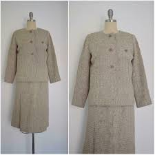 Vintage 1960s Christian Dior For Saks Fifth Avenue Wool Suit Ebay