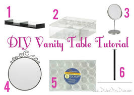 diy makeup vanity table. DIY Makeup Vanity Table Tutorial Using Parts From Ikea Diy