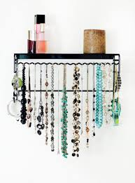 Hanging Necklace Organizer Wall Jewelry Organizer Mycosmeticorganizercom