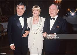 Jean Claude Brialy, Francoise Dorin and Jean Poiret at a party in ...