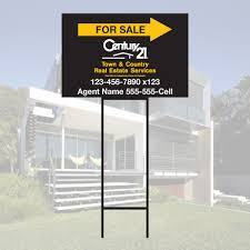 corrugated plastic directional sign heavy duty step stake