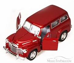 1950 Chevy Suburban, Red - Kinsmart 5006D - 1/36 scale Diecast ...
