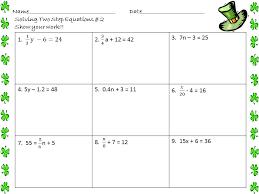 two step equations integers equations equation
