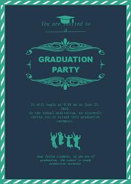 Free Simple Graduation Party Invitation Templates