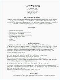 Hr Coordinator Resume Template Lovely Hr Generalist Resume Beautiful