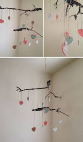 DIY Baby Twig Heart Mobile
