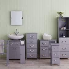 Bathroom storage Basket Estilo Nautical Grey Bathroom Storage Unit Drawer Door Homebase Estilo Nautical Grey Bathroom Storage Unit Drawer Door At