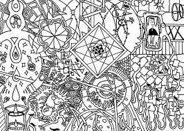 Small Picture Chaos Trippy Coloring Pages Batch Coloring