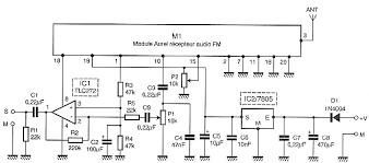 wireless receiver microphone circuit electronic circuit