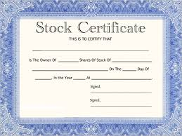 Stock Certificate Template Blank Corporate Stock Certificate Template Download Stock