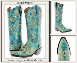 embroidery crystal n silver studded genuine leather boots