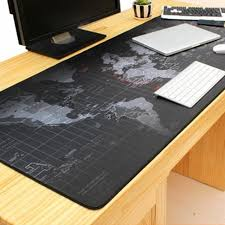 2017 brand new breathable absorbent world map pattern mouse pad anti slip office desk pad 80