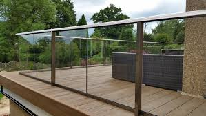 image of frameless glass balcony systems plan