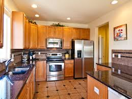 ... Feature Kitchen Design Ideas With Kitchen Floor Tiles And Lighting