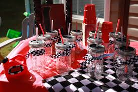 Cars Table Decorations Similiar Grease Centerpieces Keywords