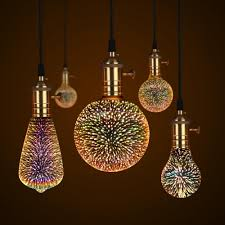 Decorative 3d Star Fireworks Effect Led Night Light Bulb In 2019