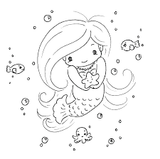Mermaid Coloring Pages Online Packed With Printable Baby Mermaid
