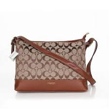 Coach Convertible Hippie In Signature Medium Brown Crossbody Bags AYY