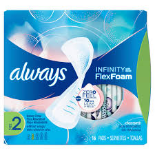 Sanitary Pad Size Chart Always Infinity Size 2 Heavy Pads Non Wing Always