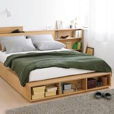 storage bed. Muji Large Double Light Ash Storage Bed F