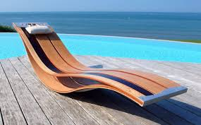 Elegant Outdoor Lounge Chairs flexible wood chairs by Pooz