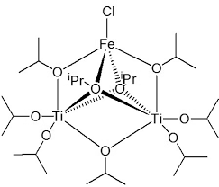 Figure 1 schematic view of the molecular structure of fecl ti2 oipr 9 1