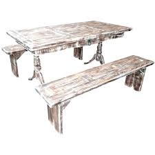 rustic pine dining table bench photo 6 chairs round
