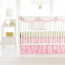 pink baby furniture. pink and gold crib bedding rail cover set polka dot in collecion baby furniture