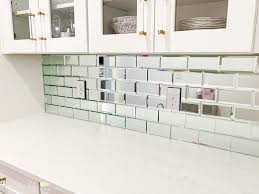to install a mirrored tile backsplash