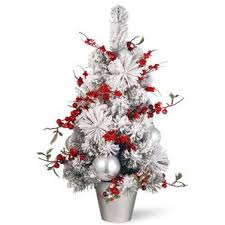 Home Accents Holiday 2417 Ft Indoor Artificial Christmas Tree Red Artificial Christmas Trees