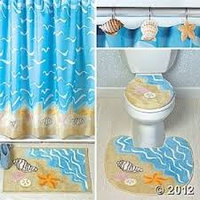 seashell bath rug green
