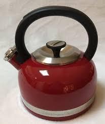 kitchenaid tea kettle red kitchen aid aide stovetop water